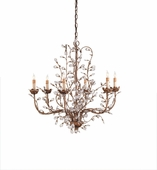 Currey & Company (9882) Crystal Bud Chandelier, Medium