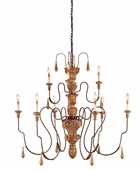 Currey & Company (9324) Mansion Chandelier, Medium