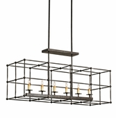 Currey & Company (9817) Fitzjames Rectangular Chandelier