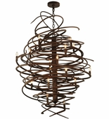 2nd Avenue Lighting (01.0995.36.42H) Cyclone 18 Light Chandelier shown in Antique Rust Finish