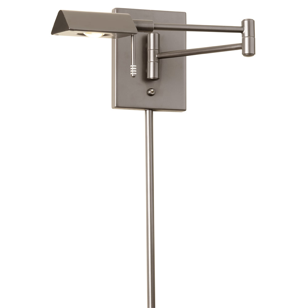 Wall Lamps Swing Arm : Dainolite Lighting (902WLED-SC) LED Swing Arm Wall Lamp in Satin Chrome