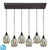 ELK Lighting (46007/6RC) Danica 6-Light Pendant with Rectangular Canopy