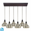 ELK Lighting (46008/6RC) Danica 6-Light Pendant with Rectangular Canopy