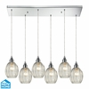 ELK Lighting (46017/6RC) Danica 6-Light Pendant with Rectangular Canopy