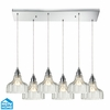 ELK Lighting (46018/6RC) Danica 6-Light Pendant with Rectangular Canopy