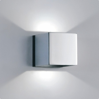 Architectural Led Wall Sconces : Zaneen Architectural Dau-Led Wall Sconce In Chrome / Black Made In Spain - D9-3132