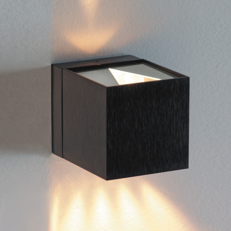 Zaneen Modern Dau Wall Sconce In Black Satin Aluminum Made In Spain - D9-3073