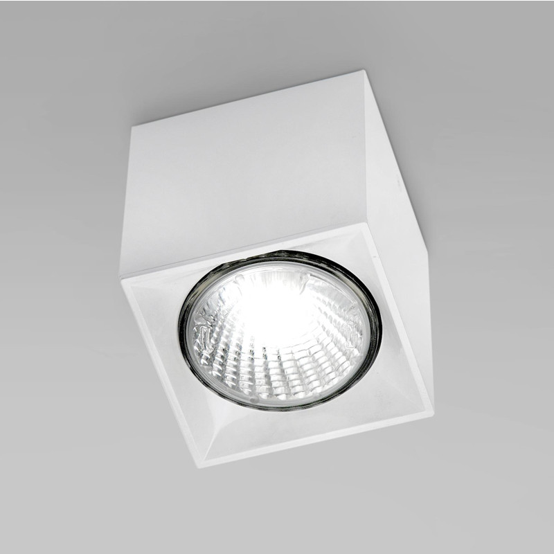Contemporary Flush Wall Lights : Zaneen Modern Dau Spot Flush Mount / Wall Sconce In White Made In Spain - D9-2061