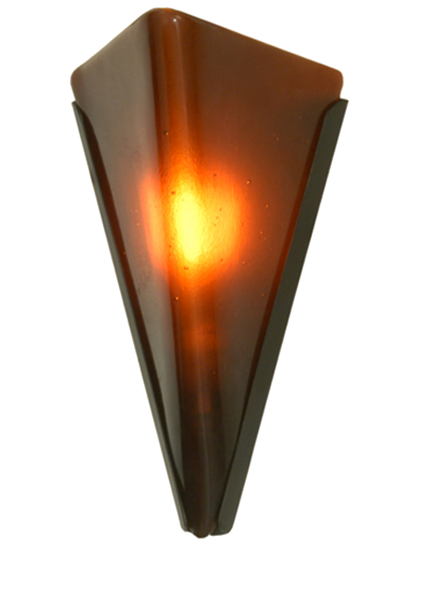 Contemporary Wall Sconces Glass : Meyda Tiffany (81610) 5 Inch Width Biscotto Piccolo Fused Glass Wall Sconce