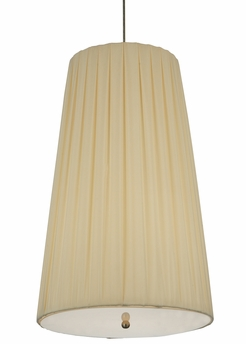 Meyda Tiffany (119125) 15 Inch Width Channell Tapered & Pleated Pendant