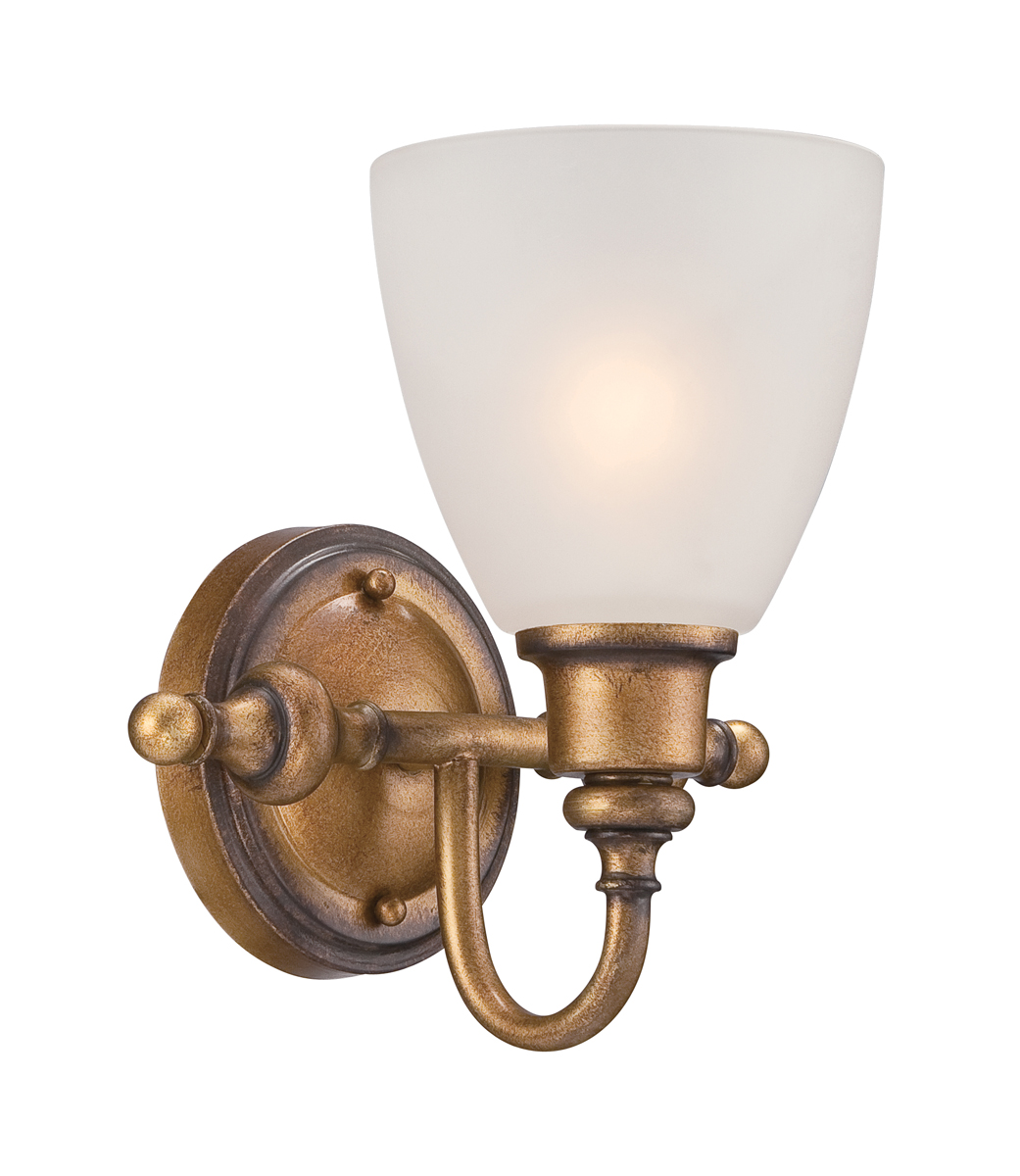 Aged Brass Wall Sconces : Designers Fountain (85601-ABS) Isla Wall Sconce in Aged Brass
