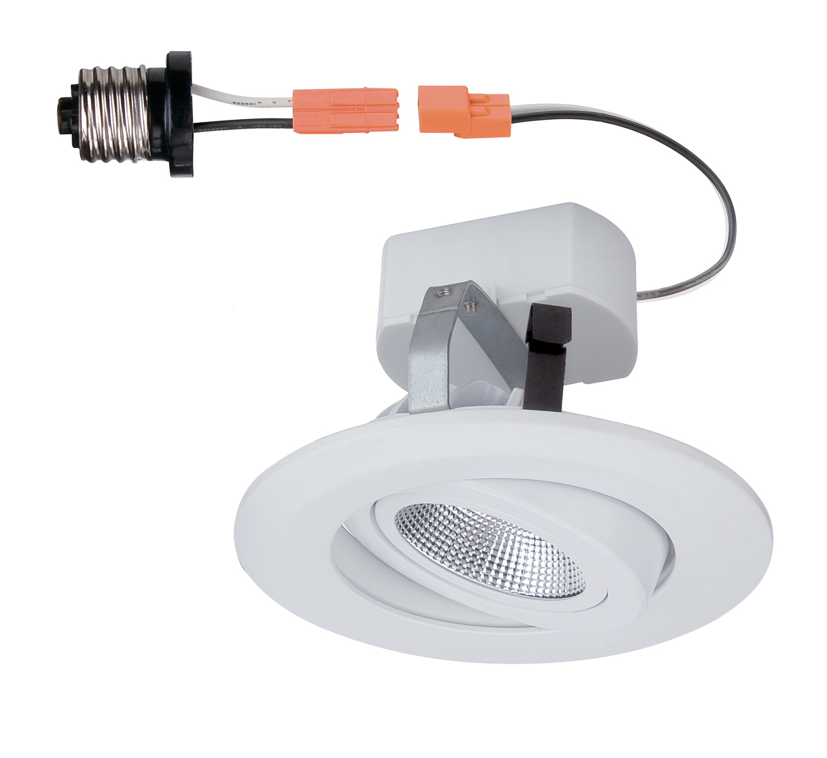 Wall Hugging Floor Lamp : Designers Fountain (LED4742-WH) 4 Inch LED Recessed Gimbal Trim in White