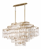 Corbett Lighting (109-512) Dolce 12 Light Island Fixture shown in Champagne Leaf