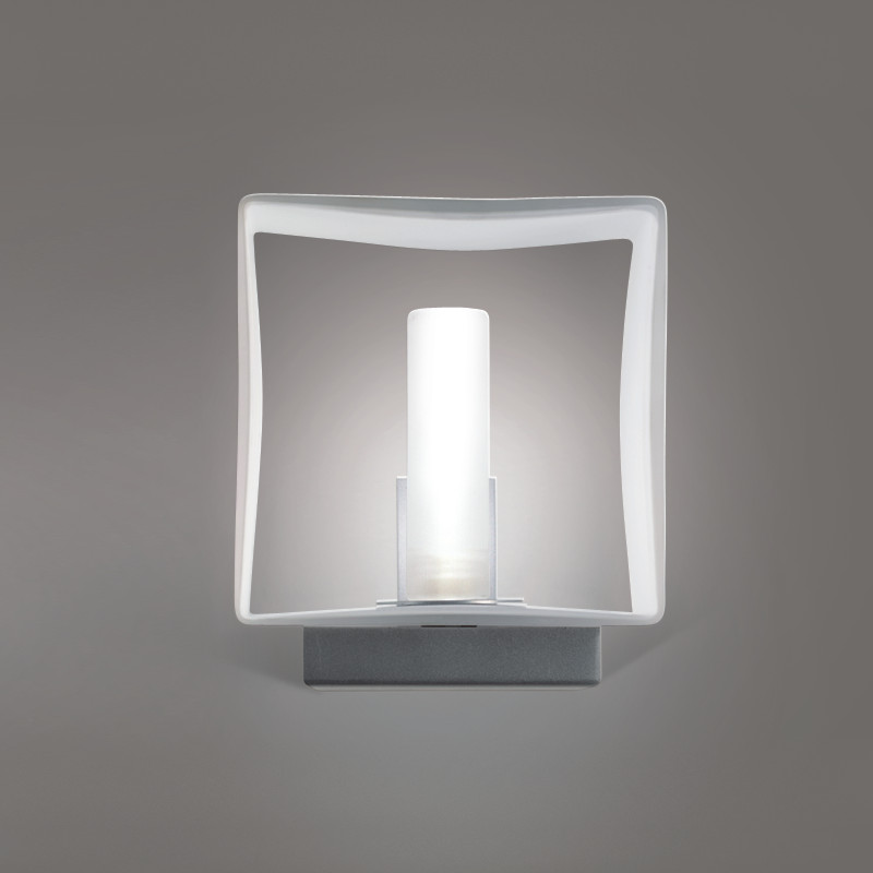 Zaneen Contemporary Domino Wall Sconce In Metallic Gray Made In Italy - D8-3071