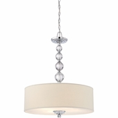"""Quoizel Lighting (DW1824C) Downtown 24"""" Pendant in Polished Chrome"""