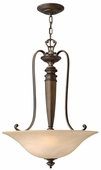 Hinkley Lighting (4594RY) Dunhill 3-Light Foyer Fixture in Royal Bronze with Vintage Faux Alabaster Shade