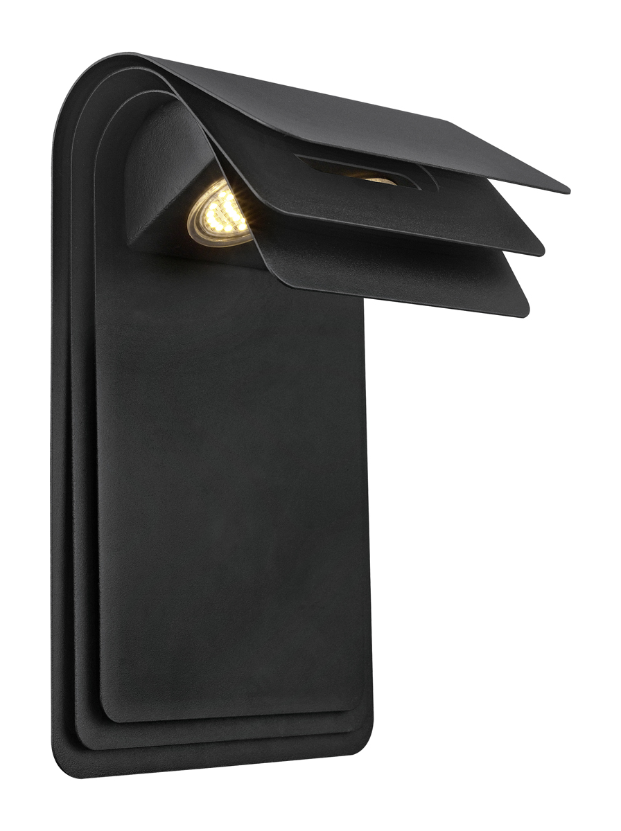 Outdoor Wall Sconces Black : Eglo Lighting (200888A) Sojo 2 Light LED Outdoor Wall Sconce in Matte Black