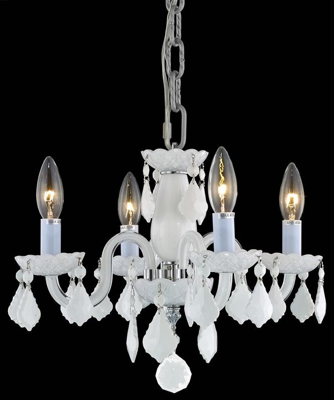elegant lighting 7804d15 rococo 4light 15 inch mini crystal chandelier shown in chrome finish