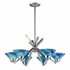 ELK Lighting (1475/6CAR) Refraction 6-Light Chandelier
