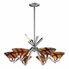 ELK Lighting (1475/6JAS) Refraction 6-Light Chandelier