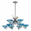 ELK Lighting (1476/6+3CAR) Refraction 9-Light Chandelier