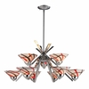 ELK Lighting (1476/6+3CRW) Refraction 9-Light Chandelier