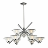 ELK Lighting (1476/6+3) Refraction 9-Light Chandelier