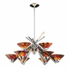 ELK Lighting (1476/6+3JAS) Refraction 9-Light Chandelier