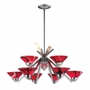ELK Lighting (1476/6+3MAR) Refraction 9-Light Chandelier