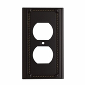 ELK Lighting (2500AGB) Decorative Outlet Plate Cover, Single (6-Pack)