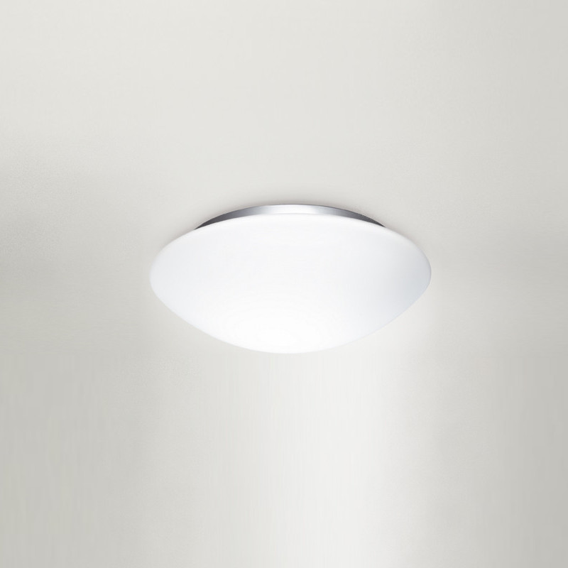 Contemporary Flush Wall Lights : Zaneen Contemporary Eos Flush Mount / Wall Sconce In Gray Made In Italy - D2-2041