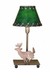 Meyda Tiffany (50611) 13 Inch Height Lone Deer Faux Leather Accent Lamp