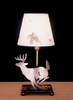 Meyda Tiffany (38771) 13 Inch Height Lone Deer Parchment Shade Accent Lamp