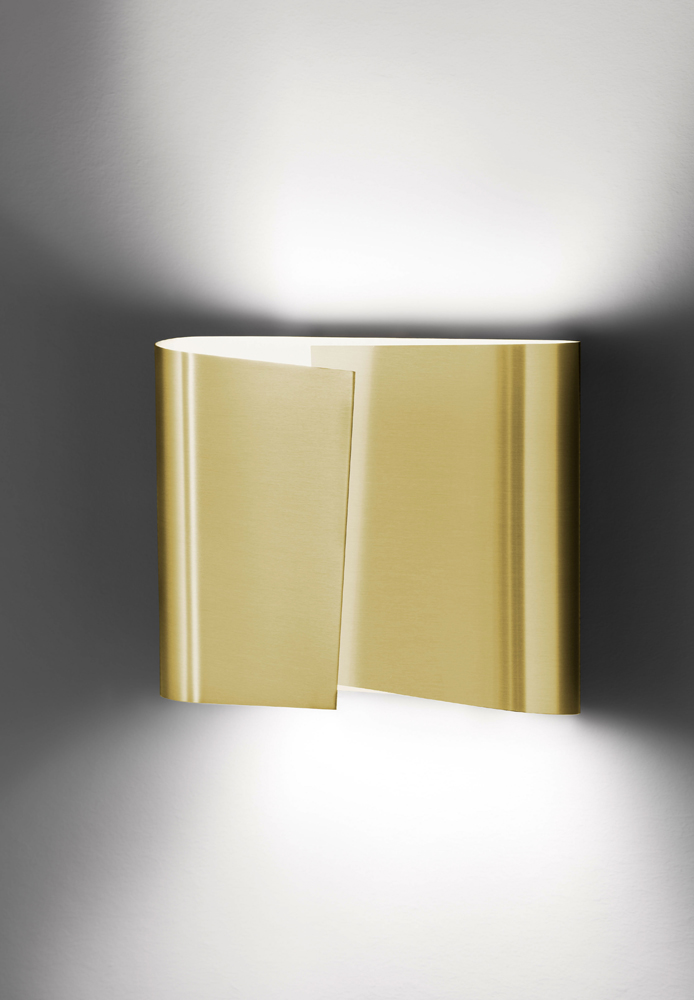 Filia Series Large Halogen Wall Sconce shown in Brushed Brass by Holtkoetter Lighting - 8532-BB