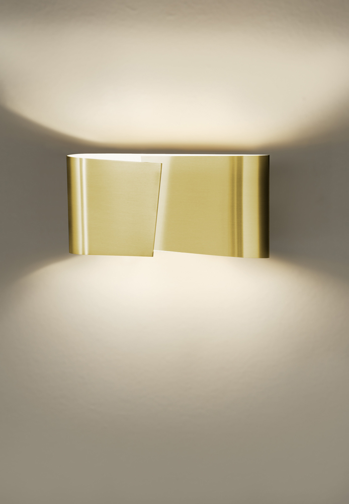 Filia Series Small Halogen Wall Sconce shown in Brushed Brass by Holtkoetter Lighting - 8531-BB