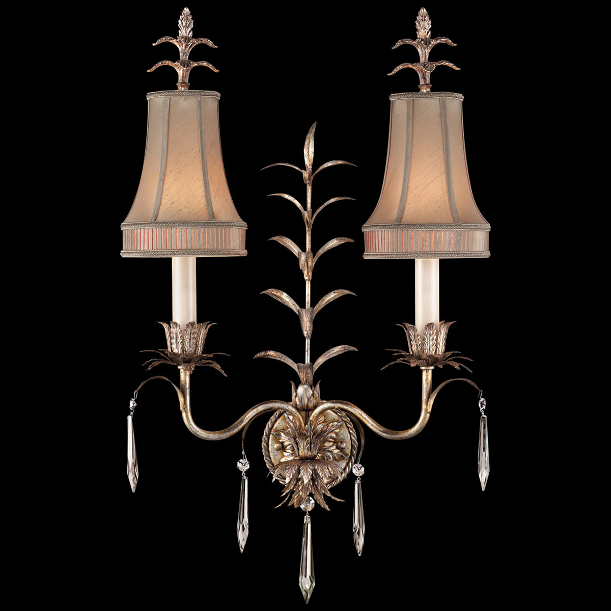 Wall Lamps Drawing : Fine Art Lamps (409050) Pastiche 2-Light Wall Sconce