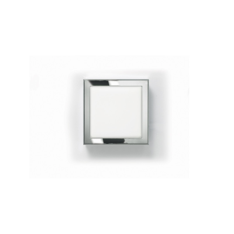 Chrome Flush Wall Lights : Zaneen Modern Flat Q Flush Mount / Wall Sconce In Chrome Made In Italy - D1-2047