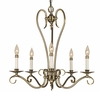 Framburg Lighting (2655) 5-Light Black Forest Dining Chandelier