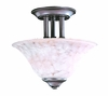 Framburg Lighting (9157) 2-Light Black Forest Flush / Semi-Flush Mount