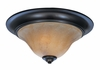 Framburg Lighting (9152) 2-Light Black Forest Flush / Semi-Flush Mount