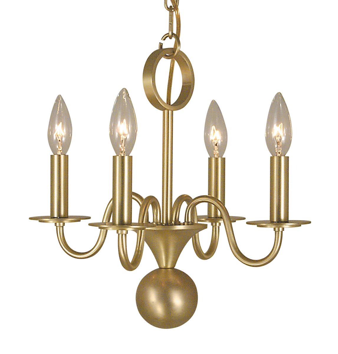 Mini Chandelier String Lights : Framburg Lighting (2244) 4-Light Jamestown Mini Chandelier