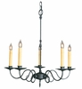 Framburg Lighting (1315) 5-Light Black Forest Dining Chandelier