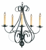 Framburg Lighting (1345) 5-Light Black Forest Dining Chandelier