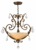 Fredrick Ramond (FR44105FRM) Barcelona 3-Light Chandelier in French Marble with Tinted Natural Alabaster Shade