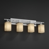 Justice Design (FSN-8704) Aero 4-Light Bath Bar from the Fusion Collection