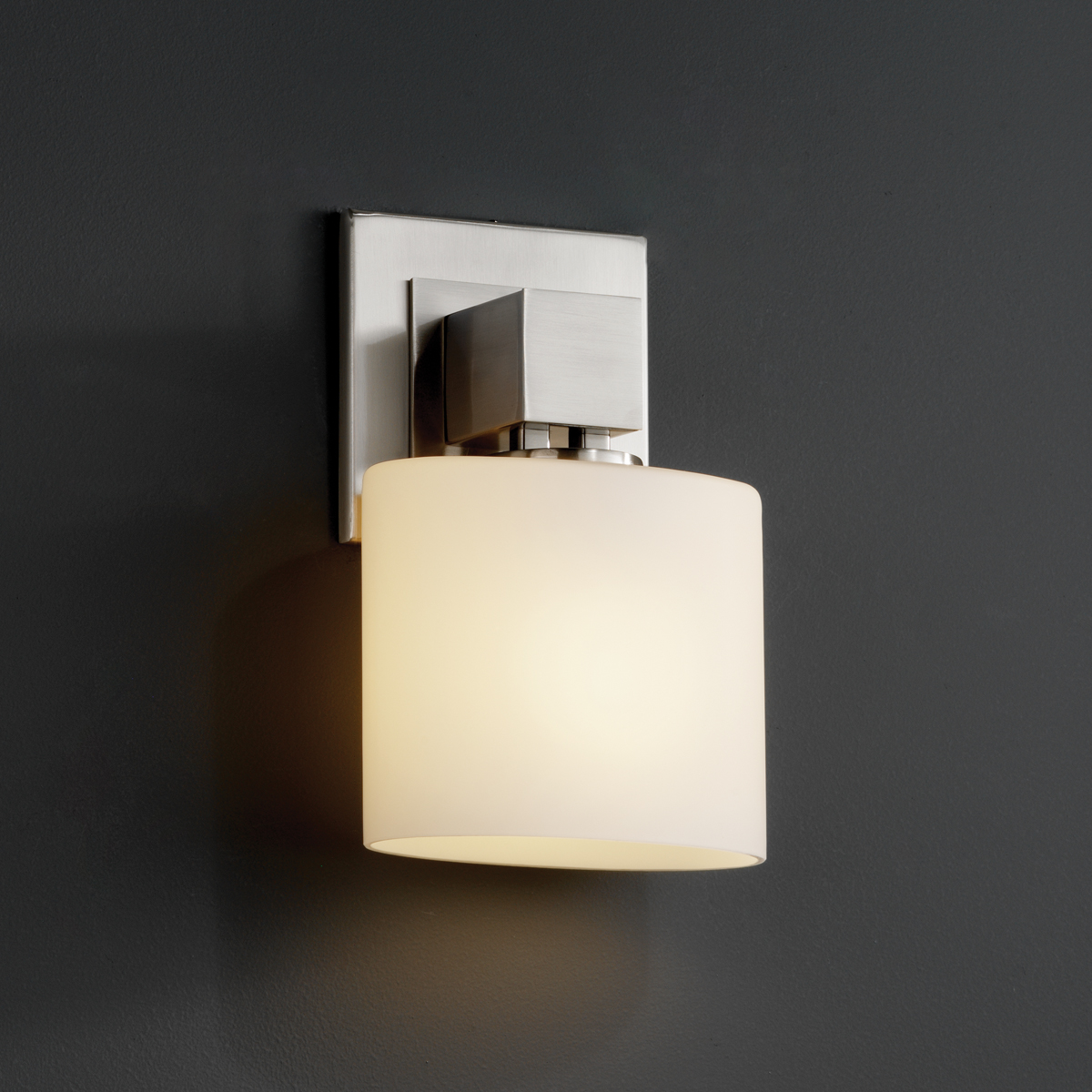 Wall Sconce No Light : Justice Design (FSN-8707) Aero ADA 1-Light Wall Sconce (No Arms) from the Fusion Collection