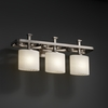 Justice Design (FSN-8563) Arcadia 3-Light Bath Bar from the Fusion Collection