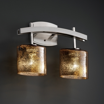 Justice Design (FSN-8592) Archway 2-Light Bath Bar from the Fusion Collection