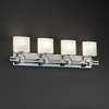 Justice Design (FSN-8504) Argyle 4-Light Bath Bar from the Fusion Collection