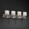 Justice Design (FSN-8584) Heritage 4-Light Bath Bar from the Fusion Collection